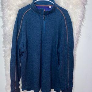 Robert Graham 1/4 Zip Pullover Sweater Shirt 2XL